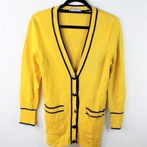 VTG Yves Saint Laurent YSL Mustard Yellow Cardigan